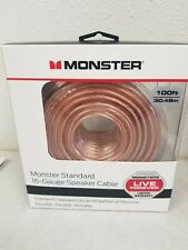 Monster Standard 16 Gauge Speaker Cable Wire 100 Feet Brand New in Box