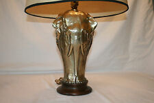 MID CENTURY BRASS ELEPHANT LAMP! Tyndale Chicago Eames Vtg STIFFEL 80's