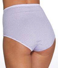 Size 6 Vanity Fair 13109 Brief Illumination Panties Wild Dot NEW Purple Lavender