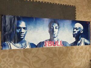 1996 NIKE NO BULL MICHAEL JORDAN SCOTTIE PIPPEN DENNIS RODMAN POSTER NBA