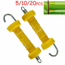 Yellow Electric Fence Gate Handle Heavy Duty Fencing Spring Handle Hook End