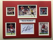 """Manchester United Marcus Rashford Signed 16"""" X 12"""" Double Mounted Display"""