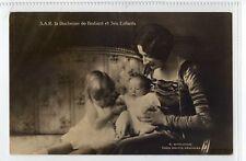 (Sb295-100)  S.A.R La Duchesse De Brabant Et Ses Enfants,c1900 ,unused,Vg