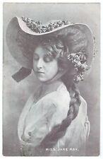 Stage Actress Jane May Vintage Postcard