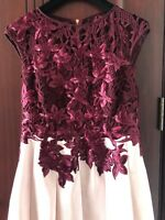BNWT 2017 TED Baker Season ILSA APPLIQUE LACEBODICE dress SZ 2 UK10
