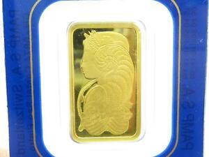 1 PAMP Suisse Lady Fortuna Five 5 Gram 999.9 Fine Gold Bar 5 GRAM SEALED BAR