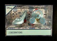 2 Disney Cinderella Schuh Deko Kugel Weihnachts Anhänger Baum Schmuck Ornament