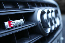 AUDI S Line Grill Badge Emblem A1 A3 S3 A4 S4 A5 A6 A7 A8 S8 RS3 RS4 Q5