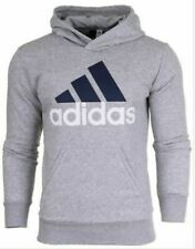mens Adidas S98775 ESS Fleece Hoodie Grey Hooded Sports tracksuit top size L
