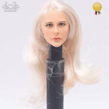 """KUMIK 1/6 Scale Female Head Sculpt Fit 12"""" Hot Toys Phicen Action Figure Body"""