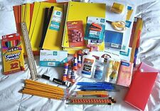 Back to School Supplies Bundle Lot Grade 9-12, Yellow and Orange Color