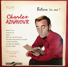 "CHARLES AZNAVOUR - RARE 25 CM (10"") ""BELIEVE IN ME"" - DUCRETET THOMSON"