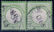 "== DR Brustschild  Mi. 17a gest. Paar ""Schwerin"", gepr. BPP, Kat. 60€ =="