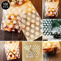 100X Christmas Cellophane Bags Party Cello Cookie Sweet Candy Biscuit Gift Bag