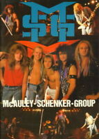 McAULEY SCHENKER GROUP Japan tour book/ticket stub in Tokyo 1988 Perfect Timing