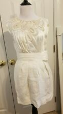 NWT BCBG Runway Cream Ivory Silk Beaded Dress 6 $458 Wedding Bridal