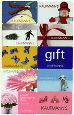 10 DIFFERENT KAUFMANN'S DEPT. STORES GIFT CARD DEFUNCT SINCE 2006 SOME RARE