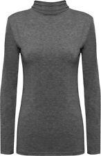 T-shirt, maglie e camicie da donna a manica lunga grigi basici