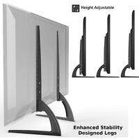 Universal Table Top TV Stand Legs for Sharp Aquos LC-30HV4U, Height Adjustable