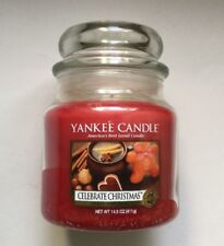 Yankee Candle CELEBRATE CHRISTMAS 14.5 oz MEDIUM JAR HTF RETIRED BAKING SCENT