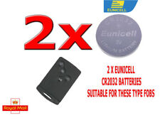 2 X EUNICELL BATTERIES FOR RENAULT CLIO LAGUNA MEGANE SCENIC KEY CARD FOB CR2032
