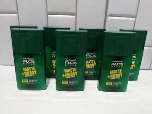 Lot Of 7 Garnier Fructis Style Matte + Messy Liquid Hair Putty Medium Hold 4.2oz