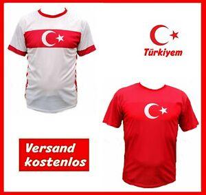 NEU Türkei EURO 2021 Fan Trikot TÜRKIYEM Rot Weiß Ayyildiz Türkiye Türk Atatürk
