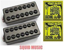 Seymour Duncan Invader 7 String Black Metal Covers ( 2 ERNIE BALL STRING SETS)