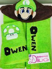 Super Mario Character Hooded Towels Beach/ Bath