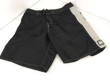 Vtg 90s QUICKSILVER surf Drawstring Board shorts USA Swim Trunks Striped Sz 34