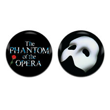 2x Phantom Of The Opera Theatre Musical 25mm / 1 Inch D Pin Button Badges