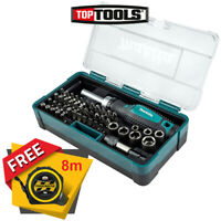 Makita B-36170 47 Piece Ratchet Screwdriver and Bit Set With Free Tape 8M/26ft