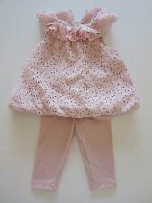 Laura Ashley Pink Eyelette Two-Piece Set Baby Girl Size 9 Months (5183)