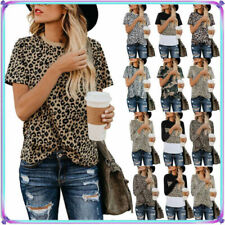 Leopard Long Sleeve Floral Tops & Shirts for Women