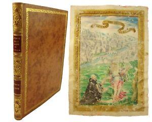 1598 Illuminated Manuscript with full-page miniature. Produced for Brescia use.