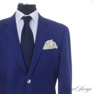INTENSE Vista 1976 VBC Perennial Wool Royal Sapphire White MOP 2B 2V FF Suit 46