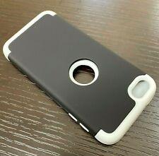 iPod Touch 5th 6th & 7th Gen - Hard Hybrid Armor Nonslip Case Cover Black Grey