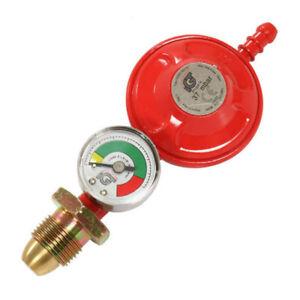 Propane Gas Regulator With Gas Pressure Gauge - Caravan / Boat / Motorhome