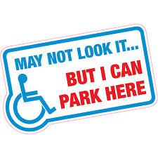 Potrebbe non apparire, ma posso parcheggiare qui... disabilitato Blue Badge AUTO ADESIVO VINILE