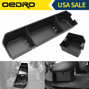Extended Cab Pickup Black Underseat Consoles Rear Under Seat Cargo Storage Case Organizer Box Replacement For Ford 2004-2008 F-150 Crew Cab Pickup