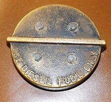 vintage diesel gas brass cap for tank