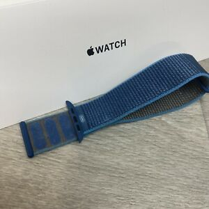 Genuine Apple Watch Strap woven sport loop 42/44mm Cape Cod Blue