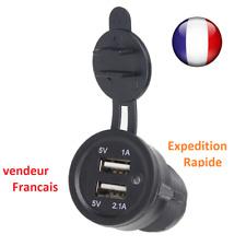 Prise Chargeur Voiture car Double USB Port 12V Prise allume-cigare encastrable