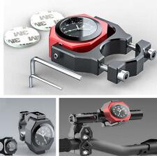 Aluminum 22-28mm Motorcycle Handbar Mounting Digital Dial Clock Time Gauge Watch