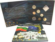 Bulgarien 1 Stotinka bis1 Lev 2002 PP KMS mit Silbermedaille im Folder