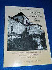HISTOIRE LES CHAPITEAUX de L'EGLISE SAINT VINCENT de CHANTELLE crepin THEVENET