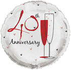 """18"""" Sparkly Happy Wedding Anniversary Foil Helium Balloon Party Decorations"""