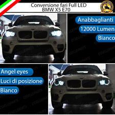 KIT FARI LED CANBUS BMW X5 E70 ANABBAGLIANTI + ANGEL EYES LED BIANCO NO ERRORE
