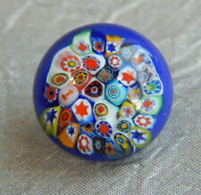 "Antique Glass Paperweight Button Millefiora~Aprx:5/8""~#525-F"