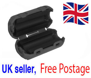 3.5mm Ferrite Cable Clip Clamp Ring Core Coil RFI Cable Clip UK Seller UK Stock